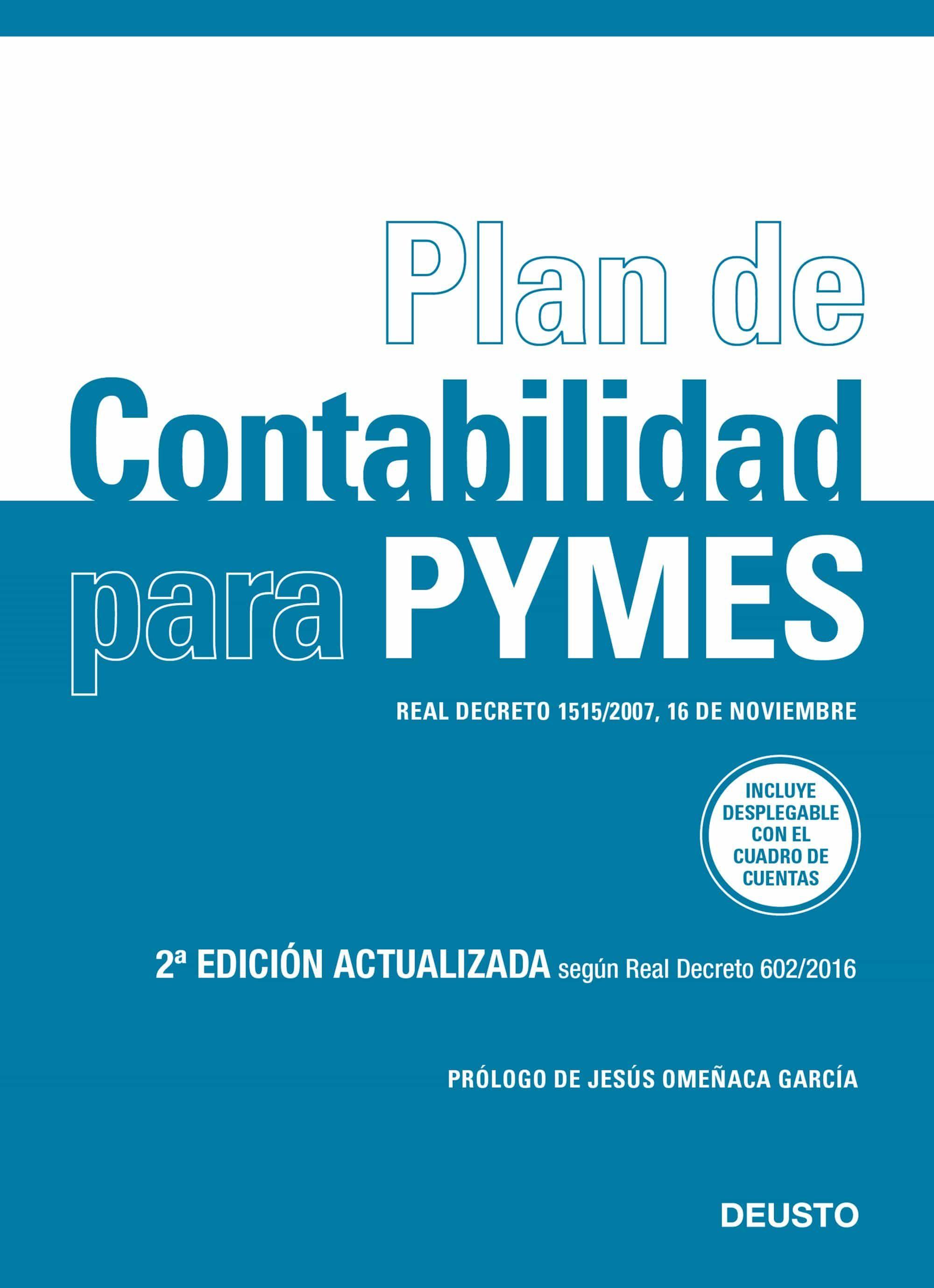 plan de contabilidad para pymes (nueva ed. 2017): real decreto 602/2016, de 2 de diciembre-9788423428021