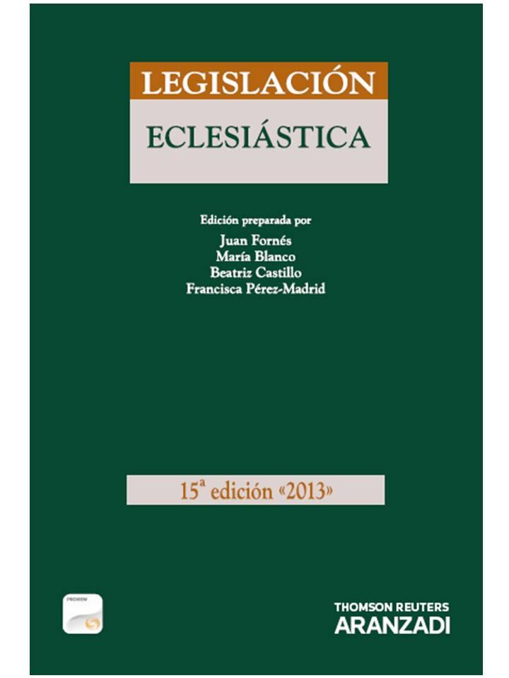 legislacion eclesiastica 2013 formato duo (15ª ed.)-juan fornes-9788490147931