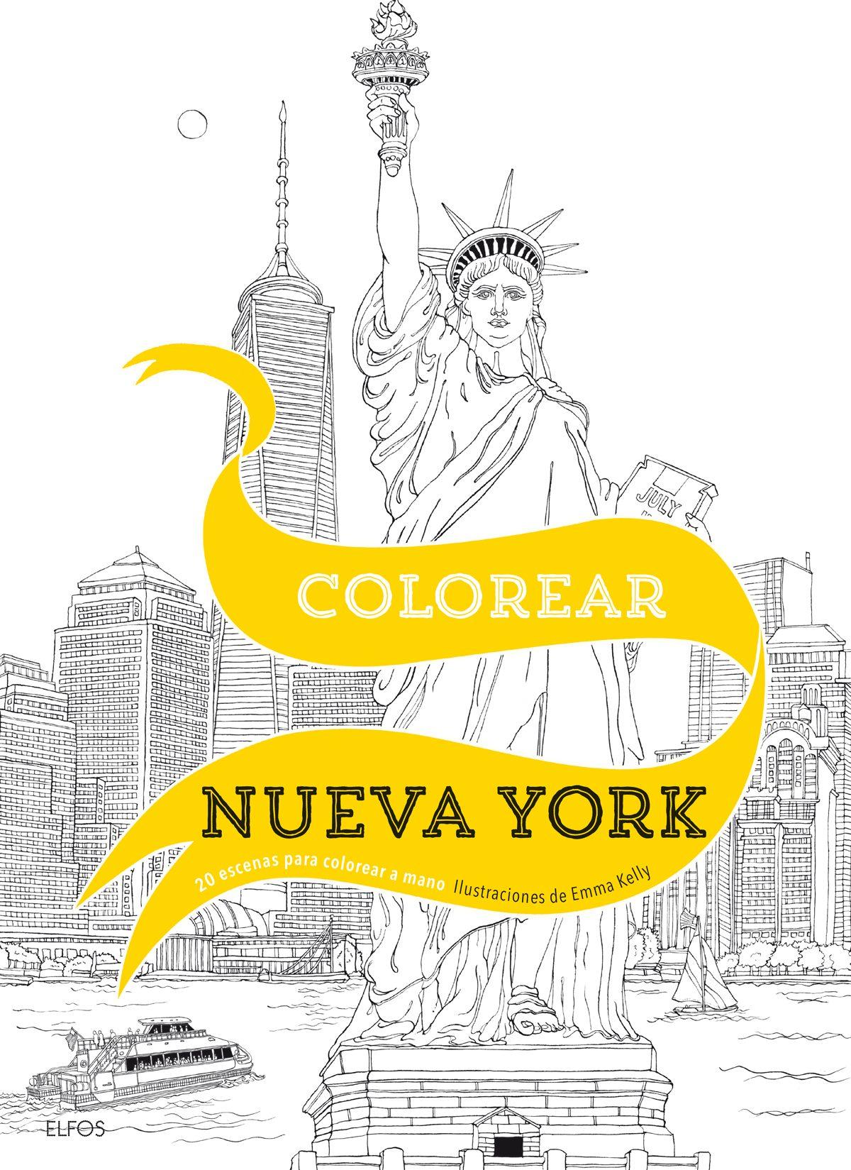 COLOREAR NUEVA YORK: 20 ESCENAS PARA COLOREAR A MANO | EMMA O KELLY ...