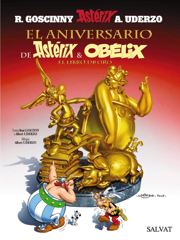 El Aniversario de Astérix Y Obélix. El Libro De Oro,Goscinny; Uderzo,Salvat  tienda de comics en México distrito federal, venta de comics en México df