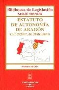 Estatuto Autonomia Aragon (1ª Ed.) por Vv.aa. epub
