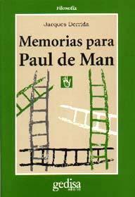 memorias para paul de man-paul derrida-9788474323351