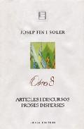 Obres 8 Josep Pin I Soler Articles I Discursos Proses Disperses por Josep Pin epub