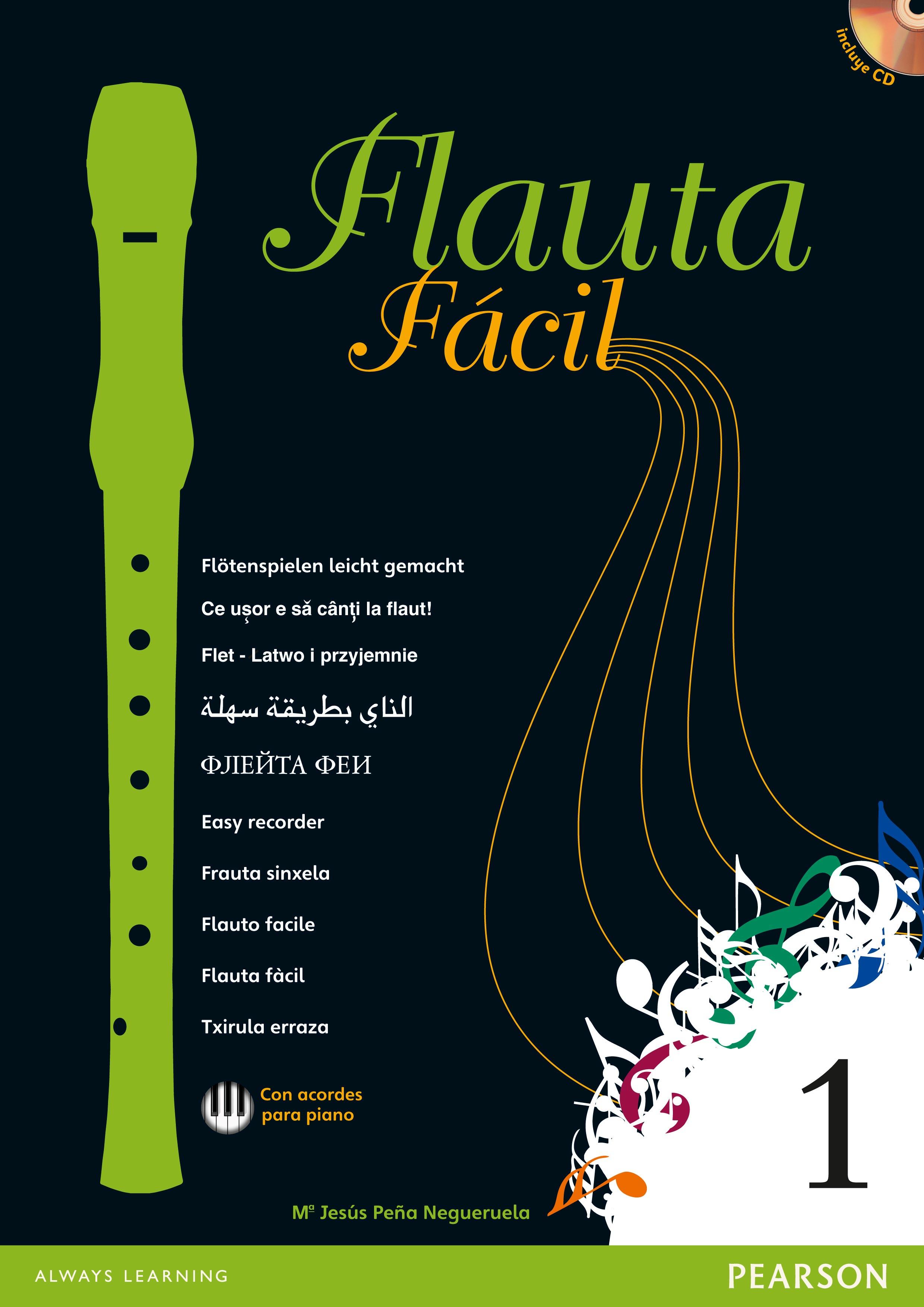 flauta fácil 1 pack con flauta yamaha-9788420561561