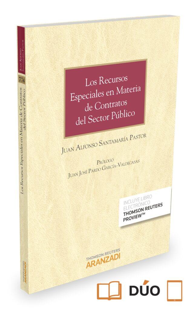 recursos especiales en materia de contratos del sector público formato duo-juan alfonso santamaria pastor-9788490985861