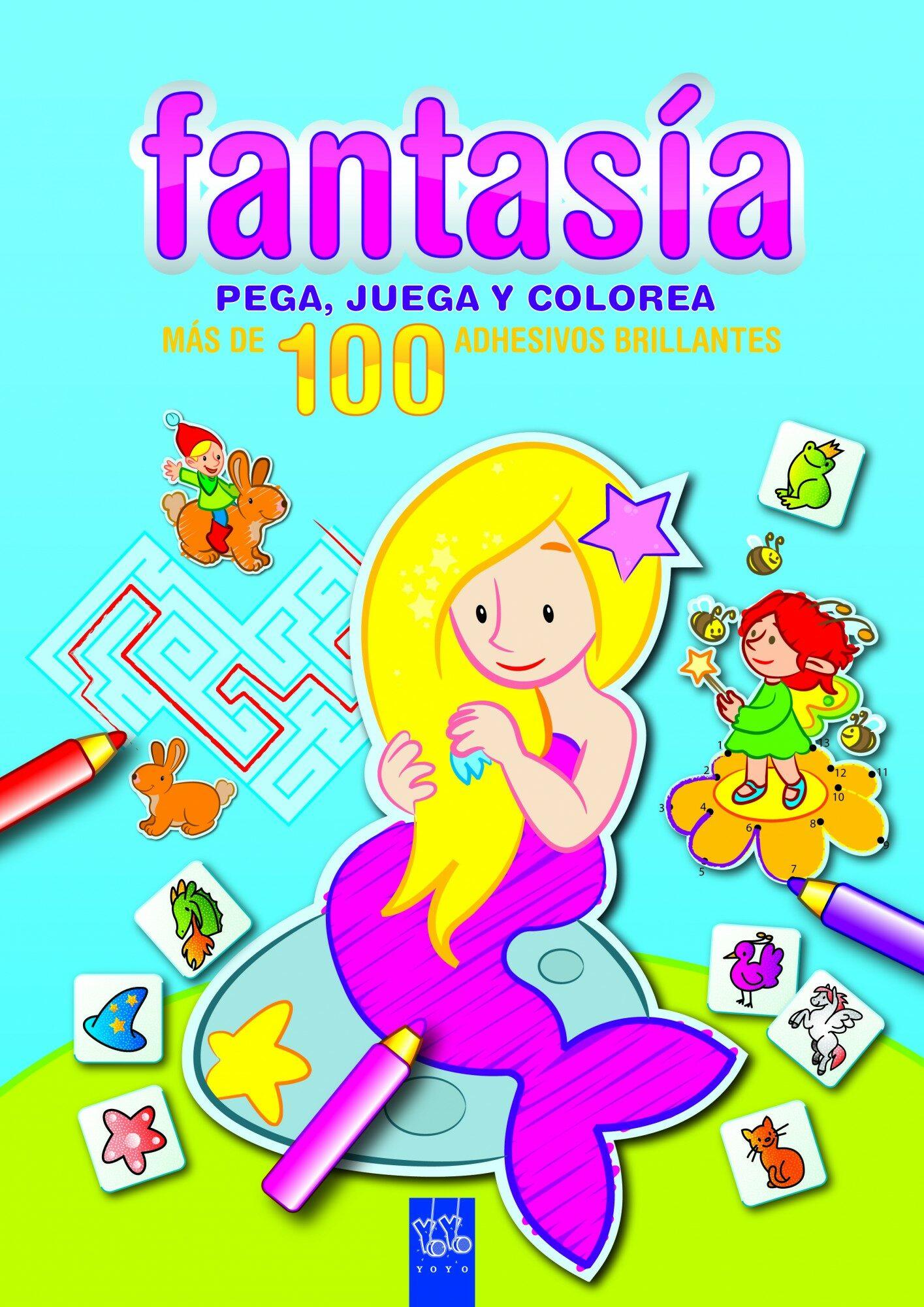 Fantasia: Pega, Juega Y Colorea: Azul por Yoyo