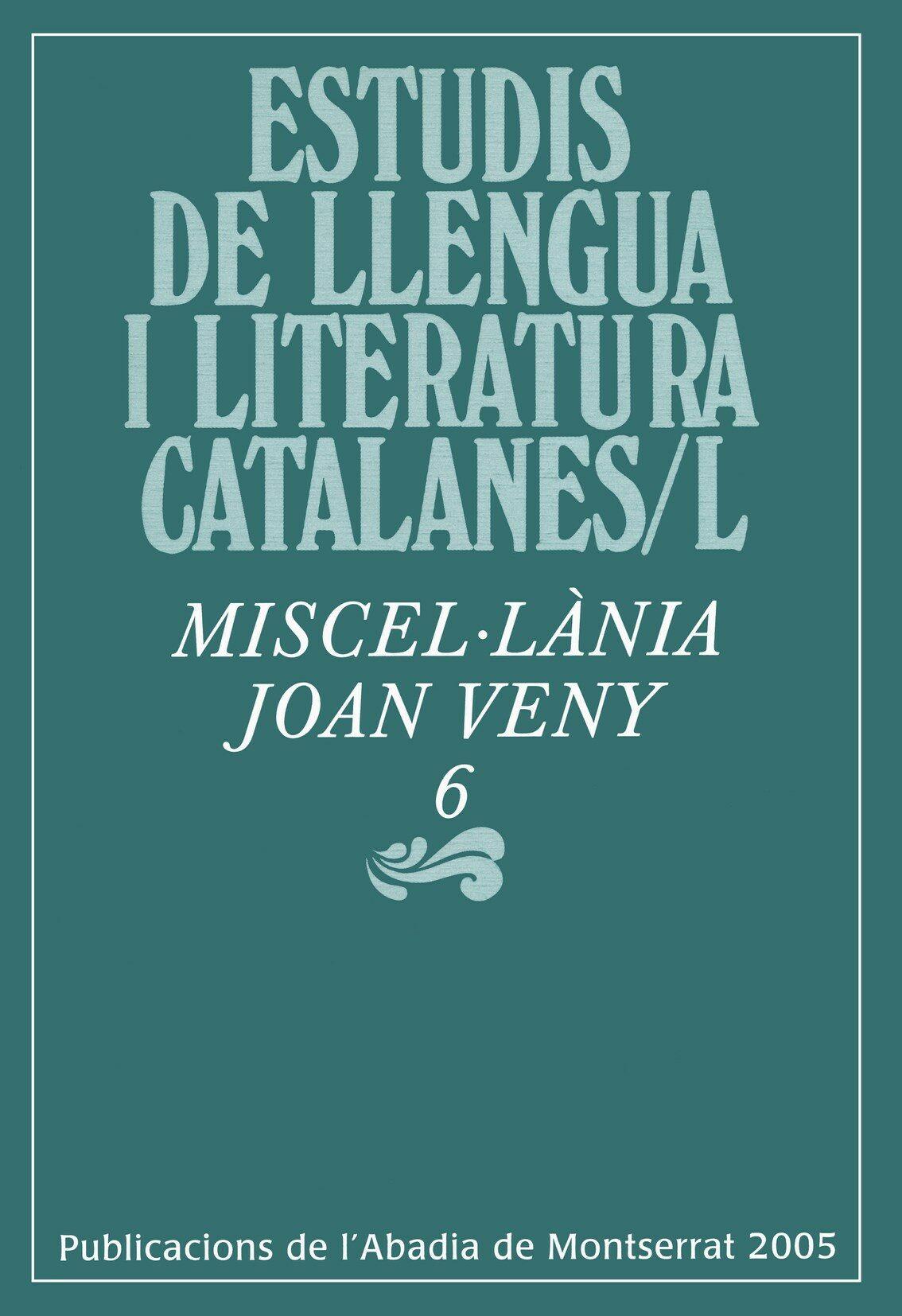 miscel·lania joan veny 6-9788484156871