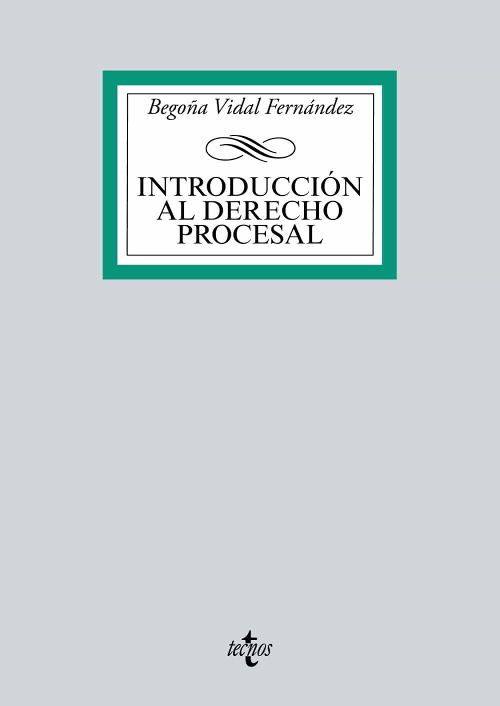 Introduccion Al Derecho Procesal por Begoña Vidal Fernandez