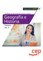 cuerpo de profesores de enseñanza secundaria. geografía e historia temario volumen ii 9788417625801