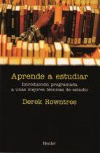 aprende a estudiar dereck rowntree 9788425406201