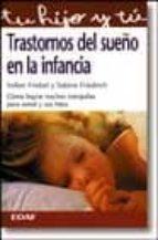 trastornos del sueño en la infancia-volker friebel-sabine friedrich-9788441400801