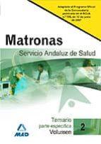 MATRONAS DEL SERVICIO ANDALUZ DE SALUD. SAS. TEMARIO (VOL. II)