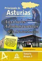 auxiliares administrativo de la administracion del principado de de asturias. temario bloque iii. actividad ofimatica 9788467631401