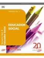 EDUCADOR SOCIAL. TEMARIO VOL. II.