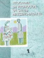 programa de promocion de salud materno-infantil-9788479783501