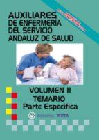 AUXILIAR ENFERMERÍA SAS TEMARIO PARTE ESPECÍFICA VOLUMEN II
