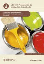 (i.b.d.) preparación de productos de acabado. mamr0208   acabado de carpintería y mueble jaime calero ortega 9788491985501