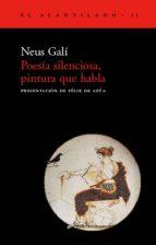 poesia silenciosa, pintura que habla neus gali 9788495359001