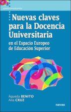 nuevas claves para la docencia universitaria: en el espacio europ eo de educacion superior 9788427715011