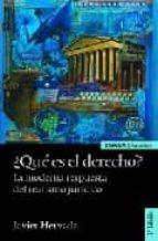 ¿que es el derecho?: la moderna respuesta del realismo juridico ( 2ª ed.)-javier hervada-9788431325411