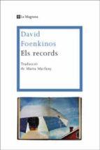 els records-david foenkinos-9788482645711