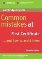common mistakes at first certificate and how to avoid them susanne tayfoor 9780521520621