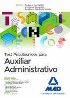 test psicotecnicos para auxiliar administrativo-9788414201121