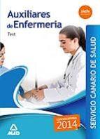 AUXILIARES DE ENFERMERÍA TEST SERVICIO CANARIO DE SALUD 2014
