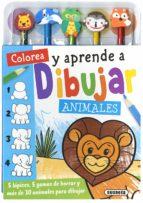 colorea y aprende a dibujar animales 9788467756821