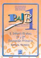 MANUAL PAIB 1.E. INFANTIL (5 AÑOS)1º Y 2º EDUCACION PRIMARIA. MAN UAL TECNICO