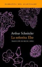 la señorita else arthur schnitzler 9788495359421