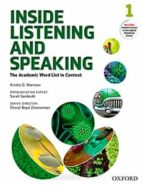 inside listening and speaking: level one: student book: the academic word list in context 9780194719131