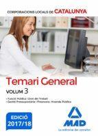 corporacions locals de catalunya. temari general volum 3-9788414211731