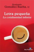 letra pequeña (ebook) benjamin gonzalez buelta 9788429324631