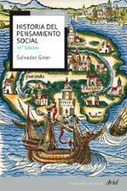 historia del pensamiento social (13ª ed ampliada y actualizada) salvador giner 9788434409231