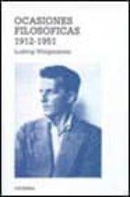 ocasiones filosoficas-ludwig wittgenstein-9788437615431