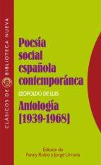 poesia social española contemporanea: antologia (1939 1968) 9788470308031