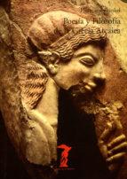 poesia y filosofia de la grecia arcaica hermann frankel 9788477745631