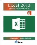 excel 2013. manual practico-rosario peña-9788494062131