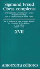 obras completas (vol. xvii): de la historia de una neurosis infan til (el hombre de los lobos) y otras obras (1917 1919) sigmund freud 9789505185931