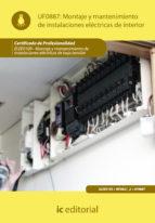 (i.b.d.)montaje y mantenimiento de instalaciones electricas de interior-irene calle millan-9788483649541