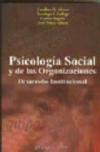 psicologia social y de las organizaciones: desarrollo institucion al-9788497723541
