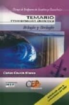 CUERPO DE PROFESORES DE ENSEÑANZA SECUNDARIA: BIOLOGIA Y GEOLOGIA : PROGRAMACION DIDACTICA: TEMARIO