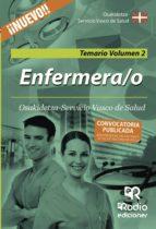 ENFERMERA/O: TEMARIO GENERAL VOLUMEN 2. OSAKIDETZA-SERVICIO VASCO DE SALUD