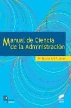 manual de ciencia de la administracion-m. baena del alcazar-9788497562751