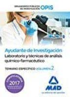 ayudantes de investigación de los organismos públicos de investigación. laboratorio y técnicas de análisis-9788414204061