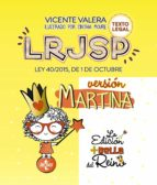 lrjsp versión martina vicente valera 9788430976461