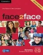 face2face for spanish speakers student's book with dvd rom and ha ndbook with audio cd (2nd edition) (level elementary) chris redston gillie cunningham 9788483232361