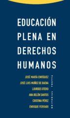 educacion plena en derechos humanos-9788498794861