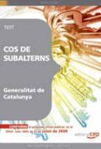cos de subalterns de la generalitat catalunya. test 9788499248561
